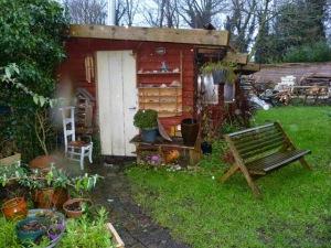 tuinhuis buiten mooi winter